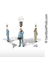 business man miniature figure concept idea to success world busi