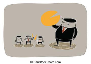 business man monopoly market share concept