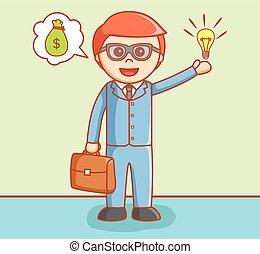 Business man offering idea