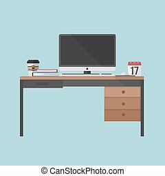 Business man office desk