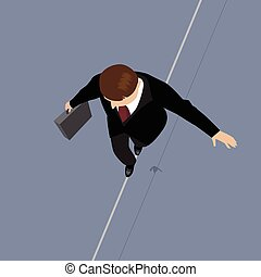Business Man on a Wire.