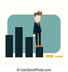 business man on diagram