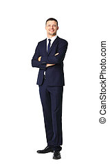 Business man on white background