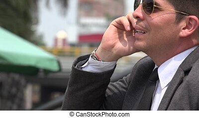 Business Man Or Ceo Talking On Phone