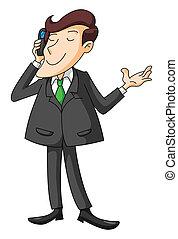 Business Man Phone