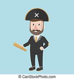 Business man pirate