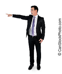 Business man pointing angry