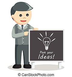 Business man post idea