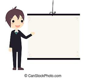 business man presentation