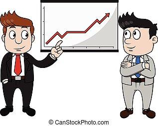Business man profit presentation