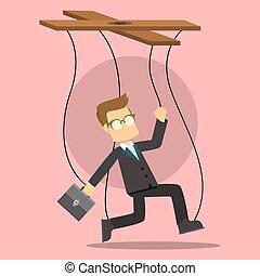 business man puppet