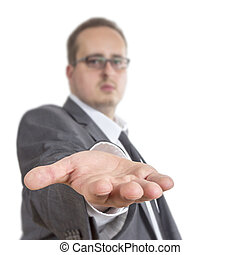Business man reaching out