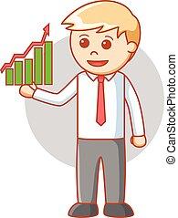 Business man report good chart