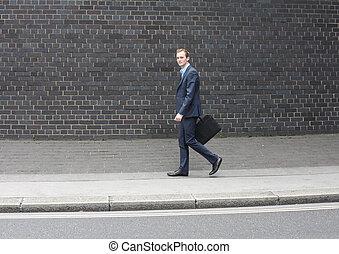 Business man running