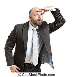 business man seeks