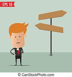 Business man select choice - Vector illustration - EPS10
