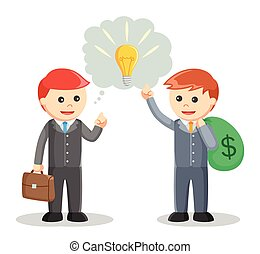 Business man sharing Idea negotiation