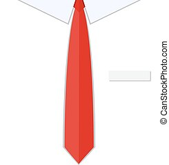 Business man shirt with red tie