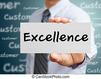business man showing concept of excellence