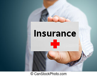 Business man showing insurance (insurance, life)