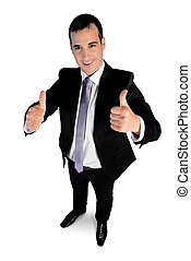 Business man showing ok sign