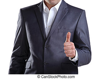 Business man showing thumb up 3