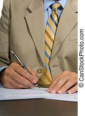 Business Man Signing
