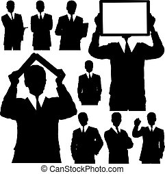 Business Man Silhouettes
