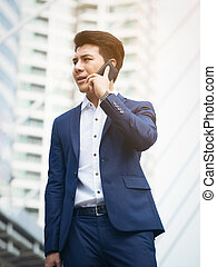 Business man speaking on the phone