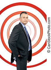 business man spiral