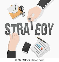 Business man strategy illustration