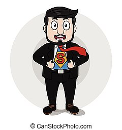 Business man super hero