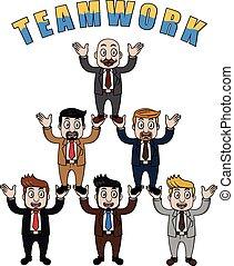 Business man team work