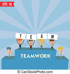 Business man teamwork spirit  - Vector illustration - EPS10