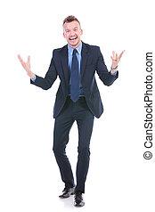 business man tells a joke