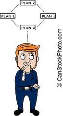 Business man thinking  illustration