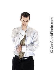 Business man thinking