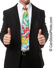 Business Man Travel Tie