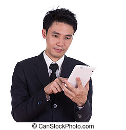business man using a tablet