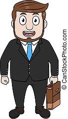 Business man using coat