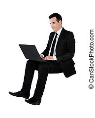 Business man using computer