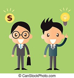 business man vector cartoon illustration design