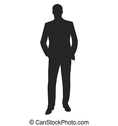 Business man vector silhouette