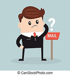 Business man waiting for mail