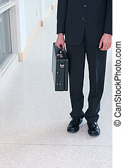 Business man with briefcase 8 - Business man wearing black...