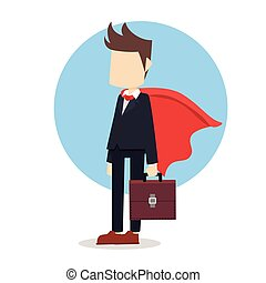 business man with cloak
