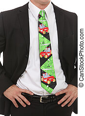 Business Man With Golf Tie