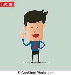 Business man with hand ok - Vector illustration - EPS10