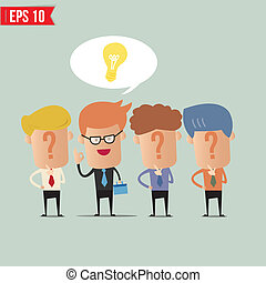Business man with idea concept - Vector illustration - EPS10
