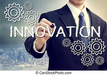 Business Man with Innovation Concept